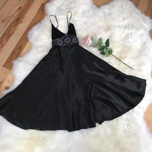 Betsey Johnson Silk Black Dress